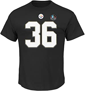 Majestic Athletic Jerome Bettis Pittsburgh Steelers Black Hall of Fame Eligible Receiver III Jersey Name and Number T-Shirt