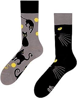 Good Mood, Calcetines de diseño para gatos (1 par), multicolor