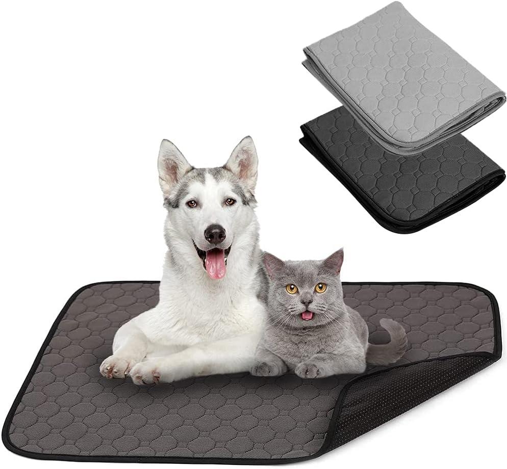 BPS 2X Empapador Entrenamiento para Perro Alfombras de Adiestramiento Caninas Lavable Almohadilla para Mascota Reutilizable Absorbente Antideslizante Color al Azar (S) BPS-5749 * 2
