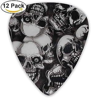 12-Pack Custom Guitar Picks Creeper Skulls Standard Bass Guitarist Music Gifts