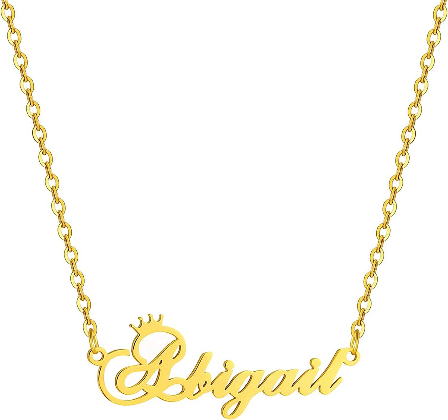 SKQIR New sales Gold Custom Women Name Fixed price for sale C Personalized Customized Necklace