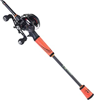 Sougayilang Ultralight Fishing Rod Reel Combos Portable Light Weight High Carbon 4 Pc Baitcaster Fishing Pole with Baitcas...