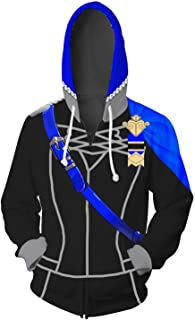 Adult Fire Emblem Three Houses Blue Lion Black Eagle Cosplay Hoodie Unisex Zip-Up Sweatshirt