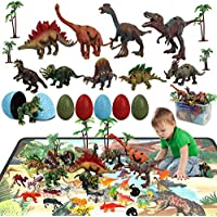 38-Piece Honyat Educational Dinosaur Playset to Create a Dino World