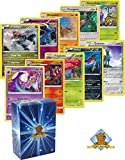 5 Pokemon Rare Card Lot 120 HP or Higher with Holos! Bonus Pokemon Collectible Coin! Includes Golden Groundhog Deck Box!