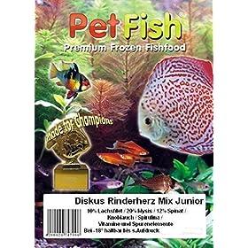 Fischfutter Diskus Natural – Rinderherz Mix Frostfutter