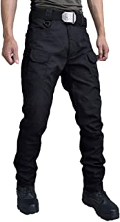 Les umes Mens Outdoor Tactical Cargo Work Trousers Lightweight Teflon Ripstop Military Pants for Hiking