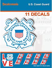 United States Coast Guard - 11 Piece USCG Licensed Stickers for Car Truck Windows, Phones, Tablets, Laptops - Large Military Decals from 2