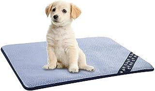 Husdjursbädd varm bärbar husdjur hund sommar kylmatta sovtäcke glass kudde för små medelstora katter husdjur hundbädd (fär...