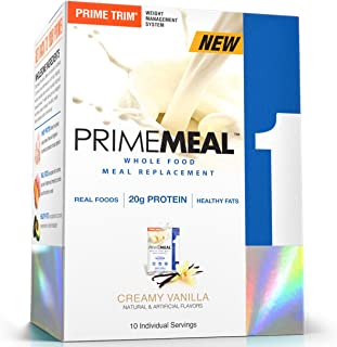 Complete Nutrition Prime Meal, Creamy Vanilla, Meal Replacement, Whey Protein Powder, Weight Management, 10 Individual Packets