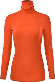 Women's Long Sleeve Turtleneck Lightweight Pullover Slim Shirt Top (S-3XL)