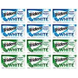 Trident White Sugar Free Gum Variety Pack, Peppermint & Spearmint Flavors, 16 Count, Pack of 12