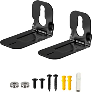 Soundbar Wall Mount Bracket for Samsung N950 HW-MS650 MS750 MS751 Speaker Stands, 2 Pieces Black Wall Bracket Holder + Scr...