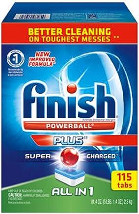Finish Allinone Dishwasher Detergent Powerball Tabs 115Ct