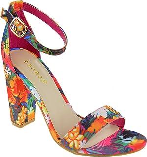 87e903e4c8 BAMBOO Frenzy 45S Womens Open Toe Chunky Heel Sandals Sandals