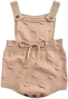Glaiidy Baby Girl Knitting Outfit Mameluco De Manga Larga Bebés Mono De Otoño E Invierno Ropa para Niños Conjunto De Ropa ...
