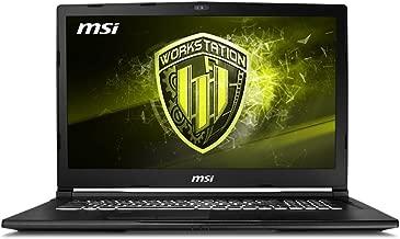 MSI WE73 8SJ-076 (i7-8750H, 32GB RAM, 512GB NVMe SSD + 2TB SSHD, NVIDIA Quadro P2000 4GB, 17.3