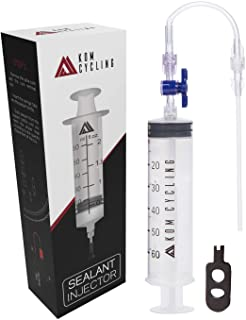 KOM Cycling Tubeless Sealant Injector Syringe and Presta Valve Core Removal Tool by Designed for Stans No Tubes sealant an...