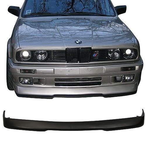 front bumper lip fits 1984-1992 bmw e30 3-series   black pu front