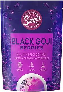 Suncore Foods - Premium Dried Black Goji Berries Superbloom, No Caffeine, No Preservatives, 3oz