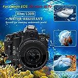 Sea frogs 130 M/40 m para Canon EOS 5d mark iii, 5d Mark IV cámara subacuática Buceo impermeable caso de vivienda