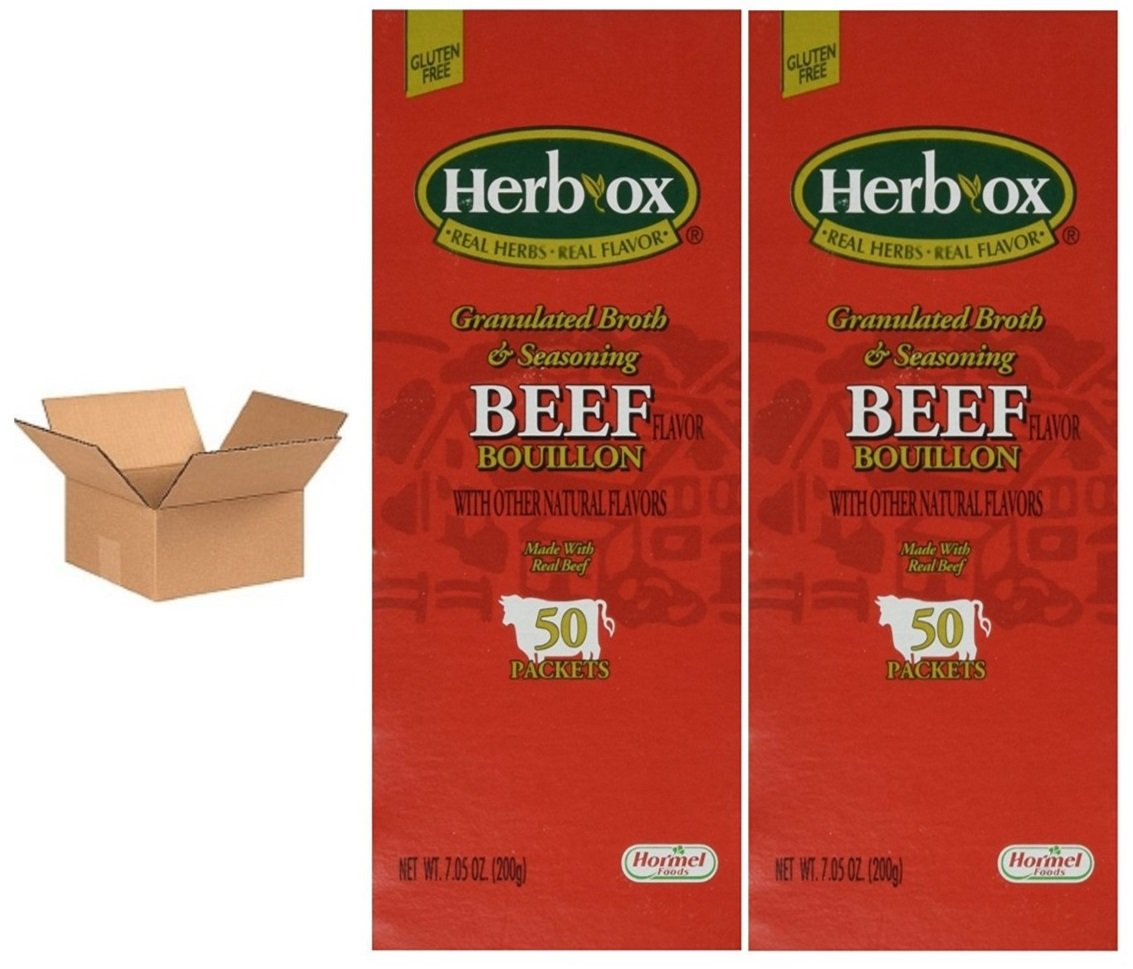 Hormel Herb Ox Beef SALENEW very popular! Bouillon Case 2 of 50 Packets latest
