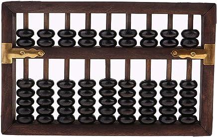 Homyl Abacus Vintage Chinois Boulier Perles Brun Loisir Créatif Mathématiques L'apprentissage Educatif Jouet
