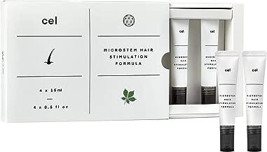 Cel MD Microstem Hair Stimulation Formula | Hair Growth Serum for Rapid Thicker Fuller Hair Regrowth | Stem Cell Technology - Asparagus, Biotin, Keratin and Castor Oil Packs