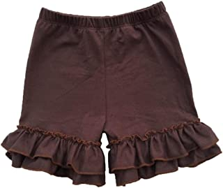 Coralup Baby & Little Girls Ruffles Cotton Shorts (18 Colors,0-8 Years)