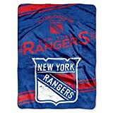 Northwest New York Rangers NHL Hockey Raschel Plush 60x80 Twin Size Throw Blanket