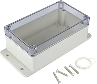 Awclub Waterproof Dustproof ABS Plastic Junction Box Universal Electric Project Enclosure with PC Clear Transparent Cover 6.2