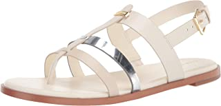 Cole Haan womens Finis Thong Sandal,Ivory/Birch/Ch Argento Leather,5.5
