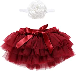 Newborn Infant Baby Girl Bowknot Tulle Tutu Skirts+Headband Outfits Clothes