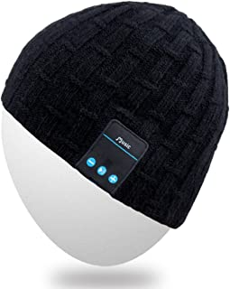 Rotibox Bluetooth Beanie Hat, Winter Outdoor Sport Knit Cap with Wireless Stereo Headphone Headset Earphone Speaker Mic Hands Free Compatible with iPhone Samsung Android Cell Phones