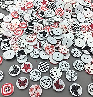 100PCS Resin Buttons DIY Scrapbooking Accessories Kid/'s Apparel Sewing PT171