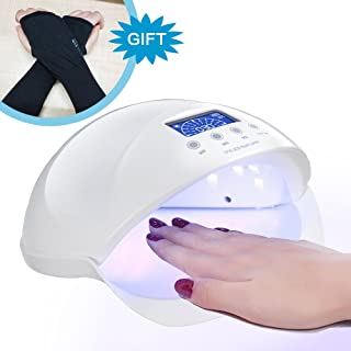 Best LED Gel Nail UV Light For Nails Polish Curing Plus Anti-UV Gloves Gift Kit, 50W Professional Quickly Harden Gel Nail Dryer Lamp With Motion Sensor
