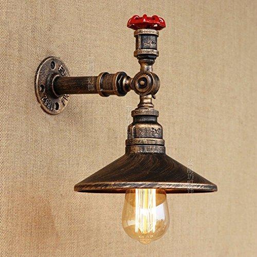 YJNB Amerikanische Industrielle Treppe Hall Balkon Lampe Vintage Restaurant Bar Einzelne Kopfschmuck Alten Rohr Wandleuchte