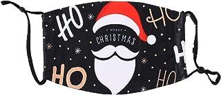Muellery Christmas Face Mask Reusable Cover Lightweight Shield DN1058