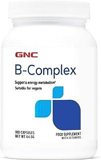 GNC Vitamin B Complex 50mg. 100 cápsulas. apoya el metabolismo energético