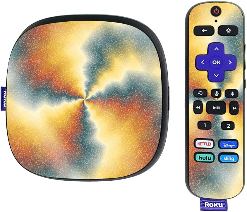 MightySkins Glossy Glitter Skin Compatible with Roku Ultra HDR 4K Streaming Media Player (2020) - Eye of The Storm | Protective, Durable High-Gloss Glitter Finish | Easy to Apply | Made in The USA