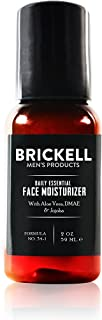 Brickell Men's Daily Essential Face Moisturizer for Men, Natural and Organic Fast-Absorbing Face Lotion with Hyaluronic Acid, Green Tea, and Jojoba, 2 Ounce, Scented