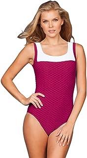 Women's Swordfish Textured Over The Shoulder One Piece Swimsuit