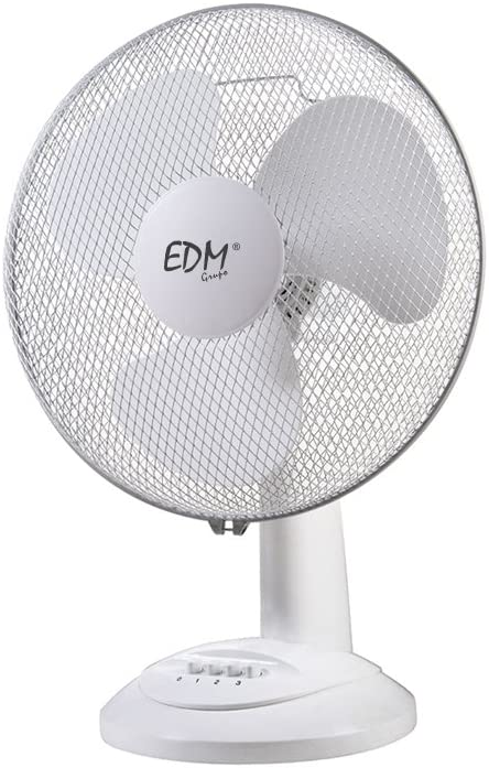 EDM 33963 Ventilador de Sobremesa 35W, Blanco, 30 cm