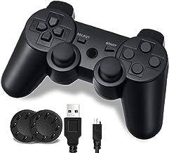 کنترلر PS3 ، بی سیم بلوتوث Gamepad Double Vibration Six-Axis کنترل از راه دور برای Playstation 3 با سیم شارژ (1 بسته)
