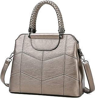 BUKESIYI Damen Tasche Umhängetasche Handtasche Frauen Klein Schultertasche Weekender Lack PU Leder CCDE77202