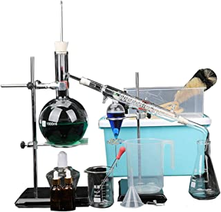 1000ml Essential Oil Distillation Apparatus with Graham Condenser + Heating Kits + Separating Funnel + Storage Box + Flask...