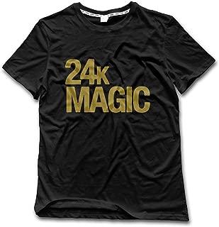 Bruno 24K Magic Crew Neck T-Shirt Black for Men