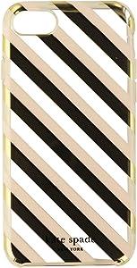 Kate Spade New York Protective Hardshell Case for iPhone 7 - Diagonal Stripe Blush