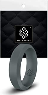 Knot Theory Silicone Wedding Ring Band for Men Women: Superior Non Bulky Rubber Rings - Premium Quality, Style, Comfort - ...