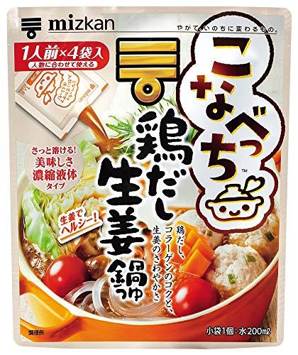 ミツカン ミツカン こなべっち 鶏だし生姜鍋つゆ 1セット(4袋×3個)